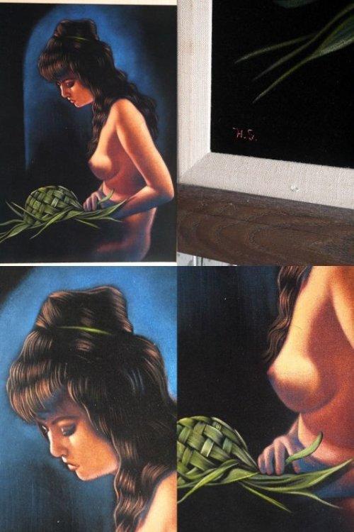 他の写真2: アンティーク ベルベットアート ペイントウォールデコ