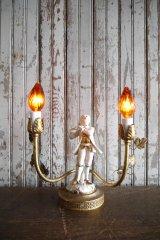 アンティーク 陶器デコレーション テーブルランプ