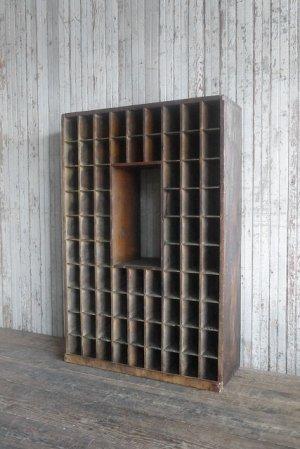 画像1: アンティーク ポストオフィス 仕分け棚
