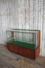 アンティーク ウッド×ガラス 小型ショーケース