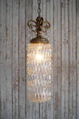 アンティーク シャンデリア装飾 クリアガラス吊り下げランプ 341