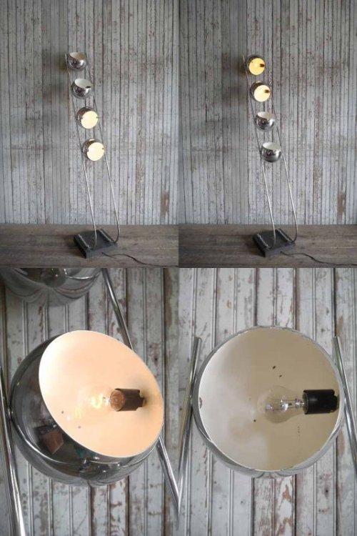 他の写真1: アンティーク スペースエイジデザイン メタル4灯フロアランプ