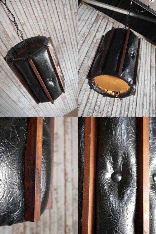 他の写真1: アンティーク レザー×ウッドシェード 吊り下げランプ 97