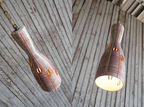 他の写真1: アンティーク 陶器製 吊り下げランプ 108