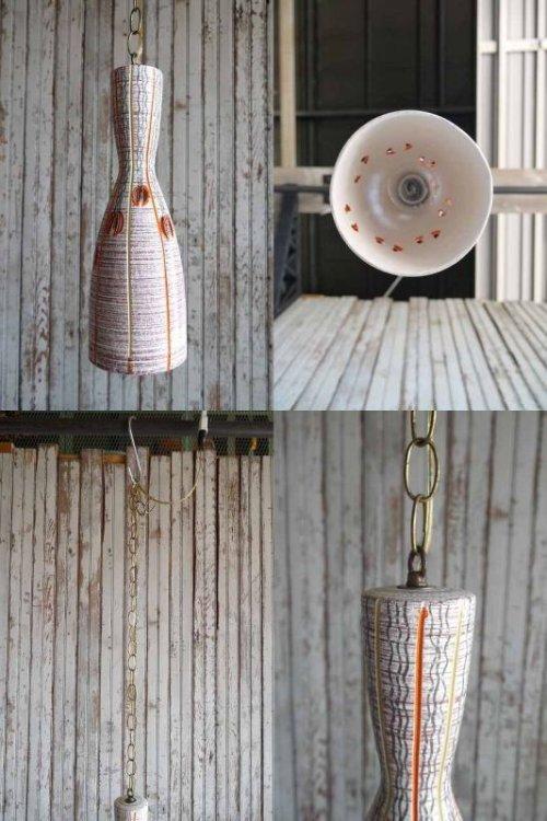 他の写真3: アンティーク 陶器製 吊り下げランプ 107