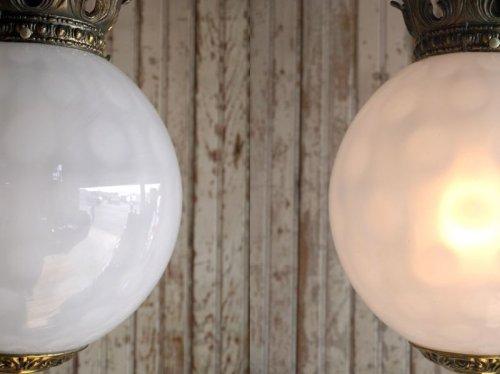 他の写真2: アンティーク ミルクガラス吊り下げランプ