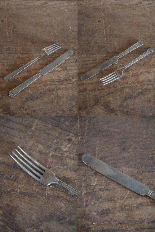 他の写真2: アンティーク ナイフ&フォークセット(観賞用)