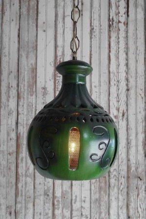 画像1: アンティーク 石膏製 デザイン吊り下げランプ