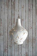 アンティーク 陶器製 スターデザイン 吊り下げランプ 116