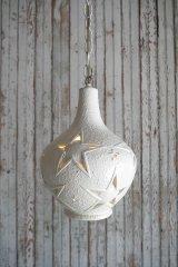 アンティーク 陶器製 スターデザイン 吊り下げランプ 114