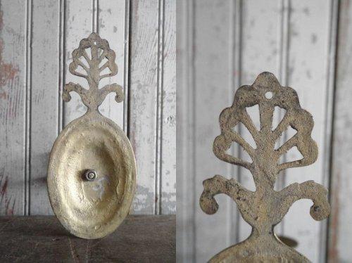 他の写真3: アンティーク 壁掛け式 ブラスキャンドルホルダー