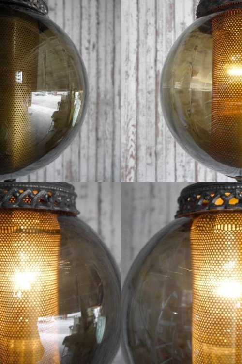 他の写真2: アンティーク スモークガラス 吊り下げランプ
