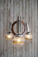 アンティーク Murano Glass 3灯吊り下げランプ
