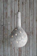 アンティーク 陶器製 スターデザイン 吊り下げランプ