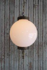 アンティーク ミルクガラス 吊り下げランプ