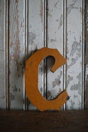 画像1: アンティーク ウッド アルファベット C *