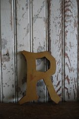 アンティーク ウッド アルファベット R *