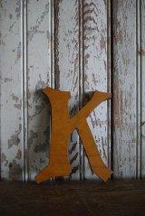 アンティーク ウッド アルファベット K *