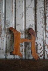 アンティーク ウッド アルファベット H *