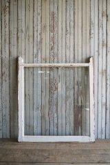 アンティーク ペイント ガラス×ウッド 窓枠 21